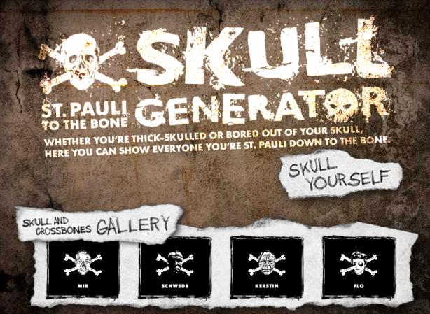 Trasforma la foto del tuo viso in scheletro online con Skullgenerator