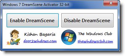 dreamscene activator  64 bit