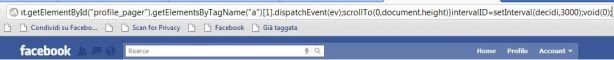 Trucco Facebook, visualizzare un profilo scorrendo velocemente i post in bacheca